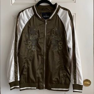 Outerwear men's embroidered jacket